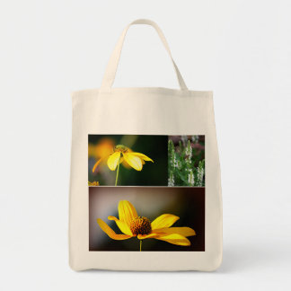 Yellow Flowers Grocery Tote Bag