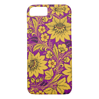 Yellow Flowers Hohloma iPhone 7 Case