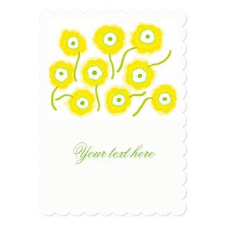Yellow flowers illustration invitations by Gemma