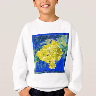 Yellow Flowers in Blue Lagoon gifts. Sweatshirt
