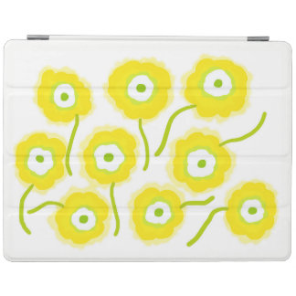 Yellow flowers ipad cover by Gemma Orte