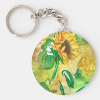 Yellow Flowers Key Chain