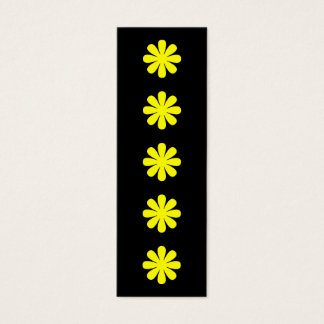 Yellow Flowers Miniature Bookmark Mini Business Card
