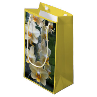 Yellow Flowers Moth Orchids Small Gift Bag