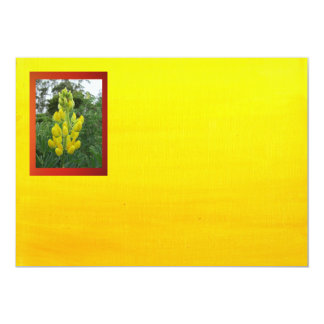 Yellow Flowers On Gradient Yellow 5x7 Paper Invitation Card