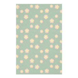 Yellow flowers on green background personalised stationery