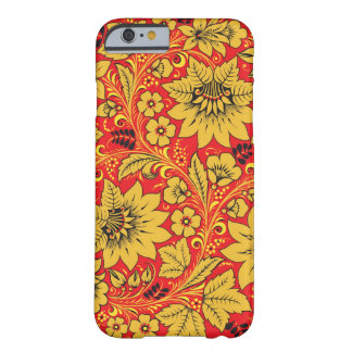 Yellow flowers on red khokhloma iPhone 6 case