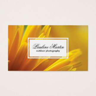 Yellow Flowers | Outdoor Photography Business Card