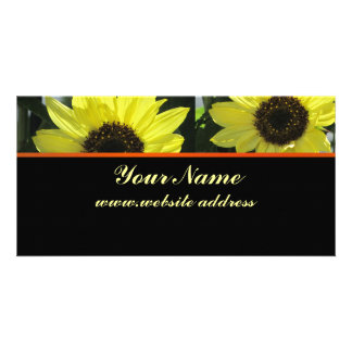 Yellow Flowers Personalised Photo Card