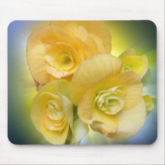 yellow flowers shining mouse pad
