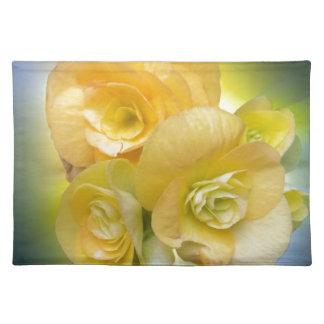yellow flowers shining placemat