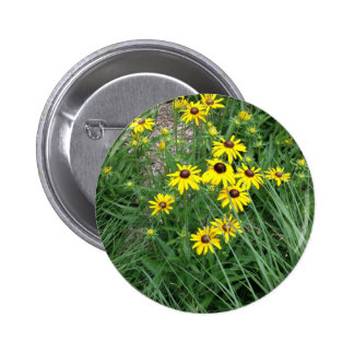 Yellow Flowers Surrounded By Grass Pin