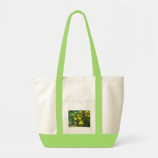 yellow flowers impulse tote bag