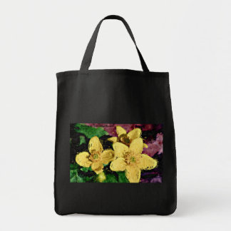 Yellow Flowers Tote Grocery Tote Bag