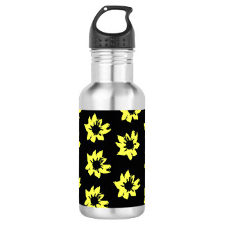 Yellow Flowers Water Bottle