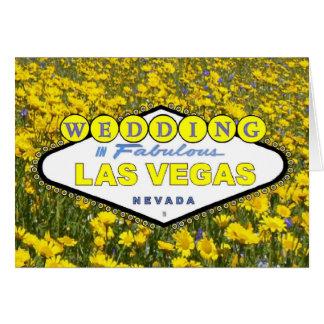 Yellow Flowers WEDDING in Fabulous Las Vegas Annou Greeting Card