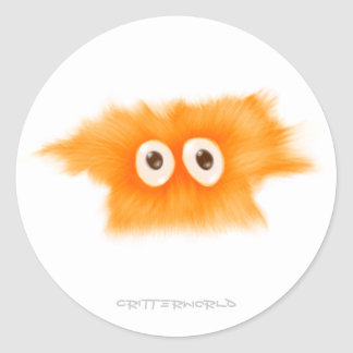 Yellow Fluffball Critter Classic Round Sticker