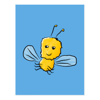 Yellow Flying Insect Bug Post Card