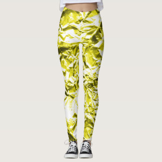 Yellow Foil Leggings