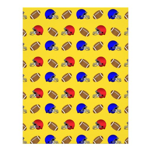 Yellow footballs helmets pattern flyer design