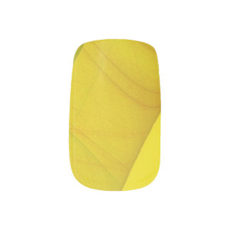 Yellow Fractal Nail Art Wraps