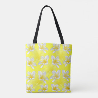 Yellow Frangipani Passion, Full Print Shopping Bag