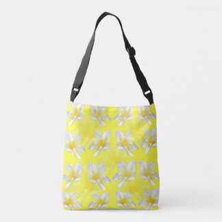 Yellow Frangipani Passion Fullprint Cross Body Bag