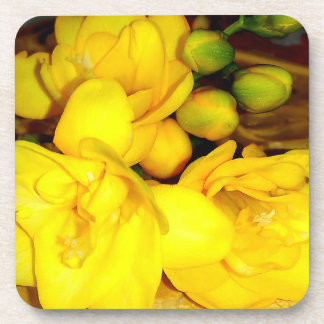 Yellow Freesia Bouquet Coaster