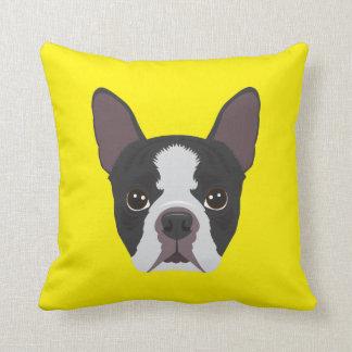 Yellow French Bulldog Cushion