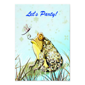 Yellow Frog Funny Cute Card