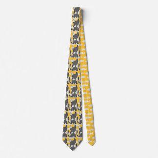 Yellow Furry Friends Tie