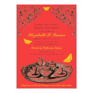 Yellow Garden Bridal Tea Party invitations