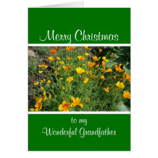 Yellow garden flowers Christmas Card