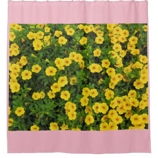 Yellow Garden Flowers Shower Curtain