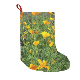 Yellow garden flowers small christmas stocking