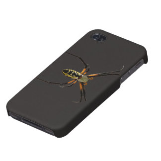 Yellow Garden Orb-Weaver Spider Cover For iPhone 4