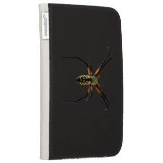 Yellow Garden Orb-Weaver Spider Kindle Cases