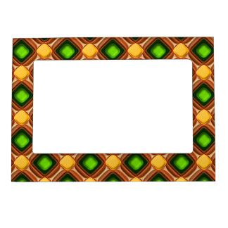 Yellow Gem Pattern Magnetic Picture Frame