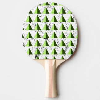 Yellow Geometric Distressed Pattern Ping Pong Paddle
