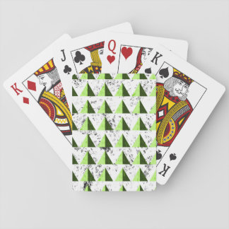 Yellow Geometric Distressed Pattern Playing Cards