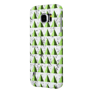 Yellow Geometric Distressed Pattern Samsung Galaxy S6 Cases