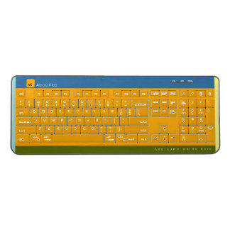 yellow, geometric & monogrammed wireless keyboard