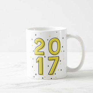 Yellow Geometric Pattern Custom Class of 2017 Mug