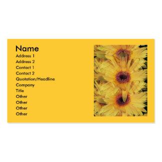 Yellow Gerber Daisy Flowers Business Card
