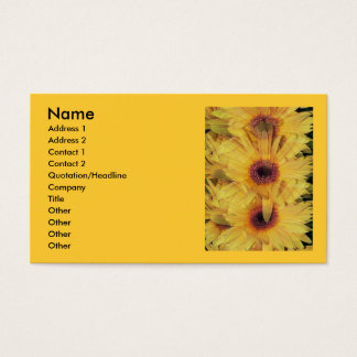 Yellow Gerber Daisy Flowers Business Card