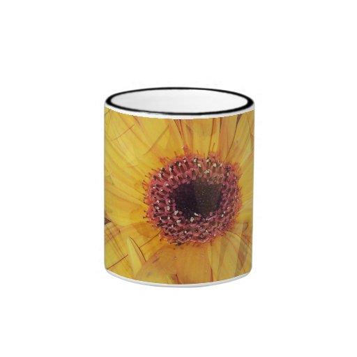 Yellow Gerber Daisy Flowers Mug