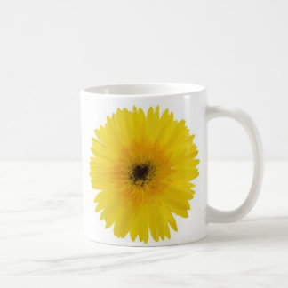 Yellow Gerbera Basic White Mug
