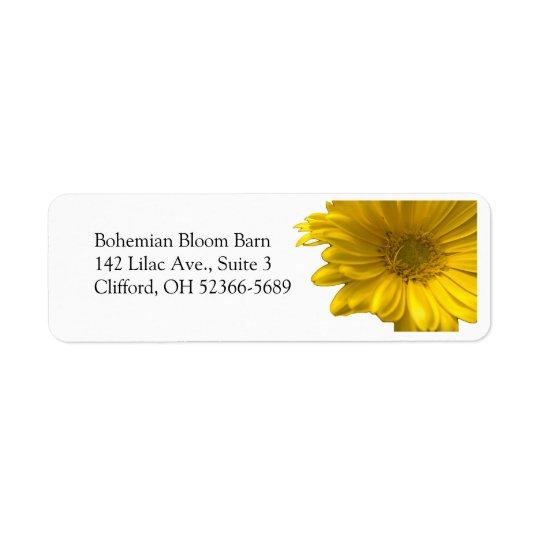 Yellow Gerbera Daisy Address Label
