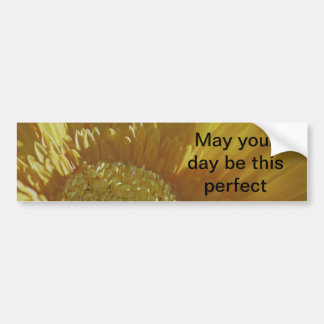 Yellow Gerbera Daisy Bumper Sticker