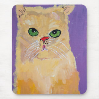 Yellow Ginger Cat Mousepad